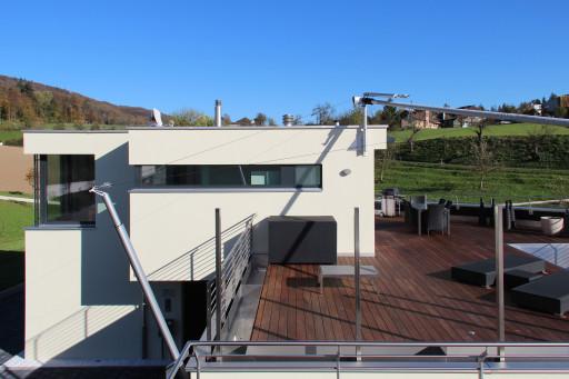 Terrassenhäuser Oftringen Westfassade