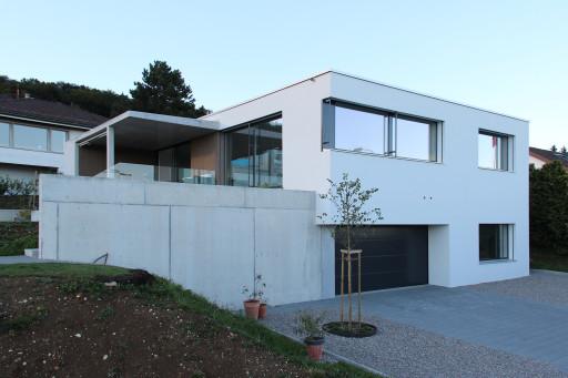 Einfamilienhaus Fridhag Hägendorf Südwestfassade