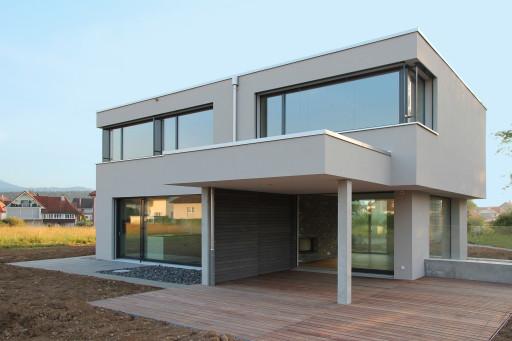 Neubau Wolfwil Südwestfassade
