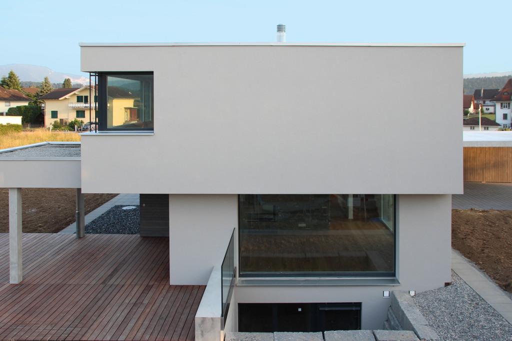 Neubau Wolfwil Südfassade