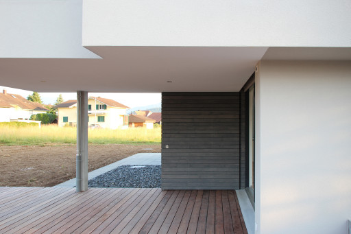 Neubau Wolfwil Terrasse