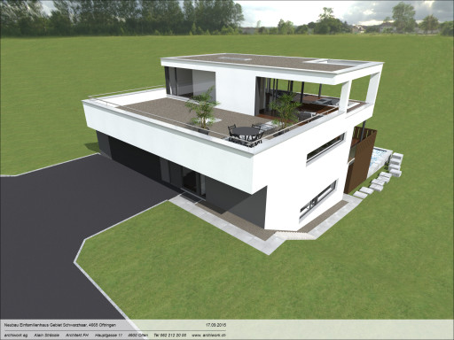 Einfamilienhaus Schwarzhaar Oftringen Visualisierung