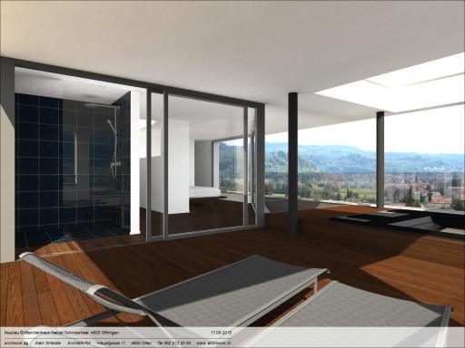 Einfamilienhaus Schwarzhaar Oftringen Visualisierung Whirlpool