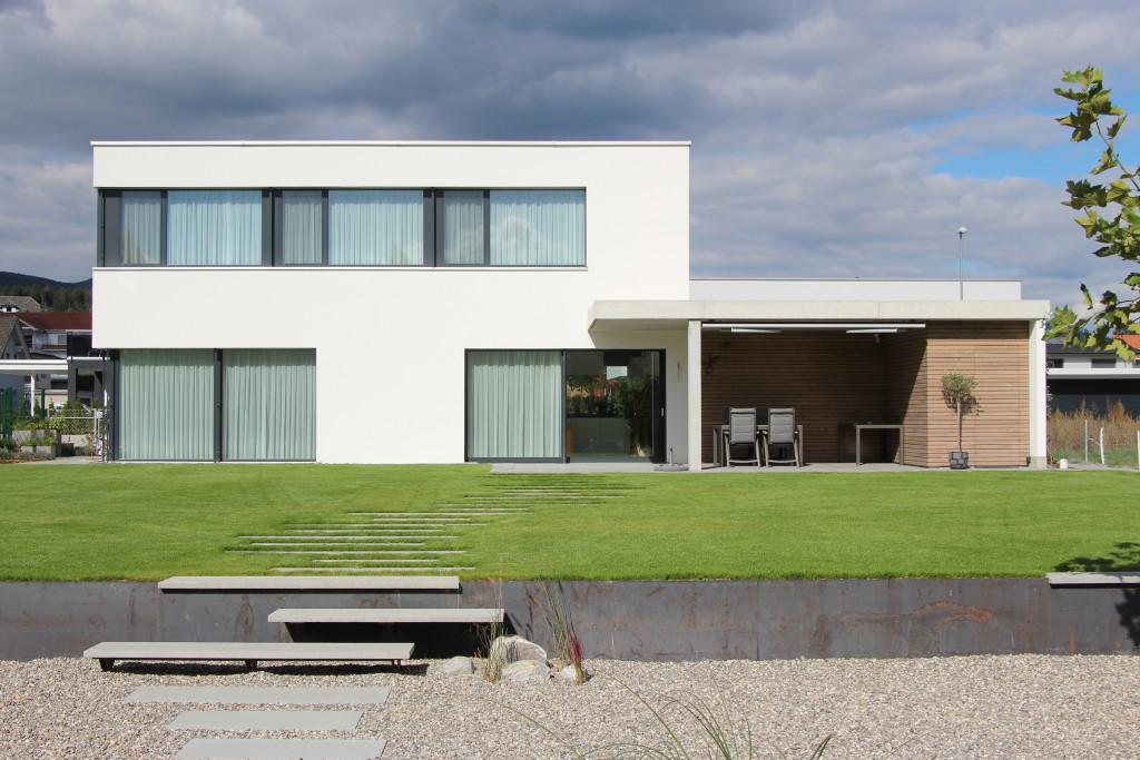 Einfamilienhaus moosackerstrasse winznau archiwork ag for Gartengestaltung carport