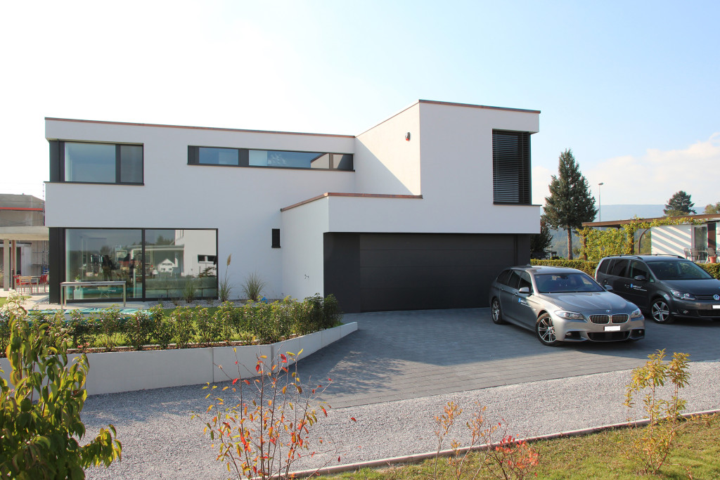 Einfamilienhaus neubau mit garage  Neubau Einfamilienhaus Sandacker Wolfwil » archiwork AG